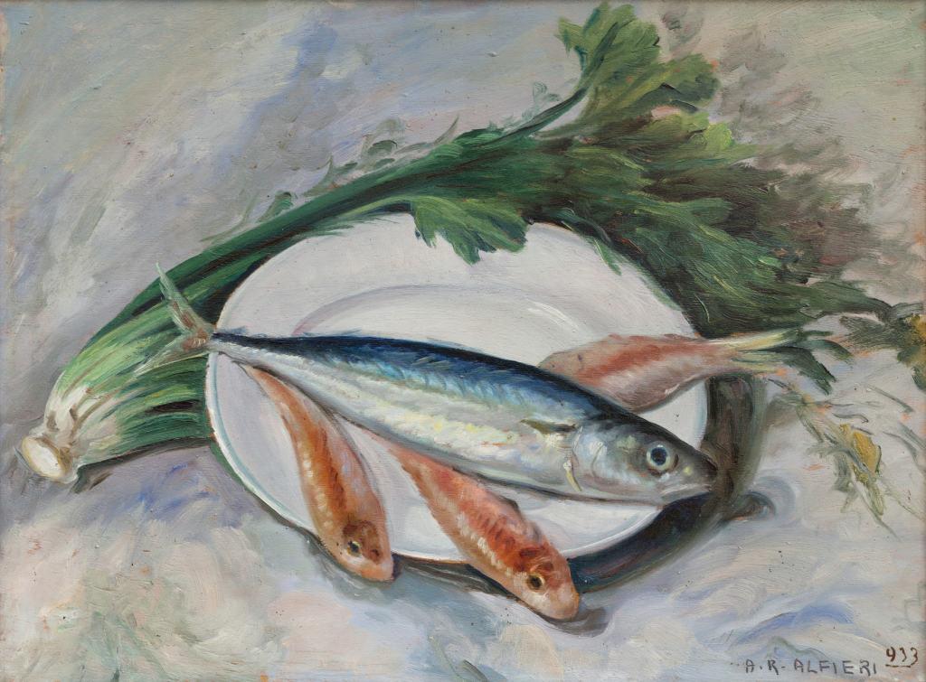 Alfieri - Natura morta con pesci
