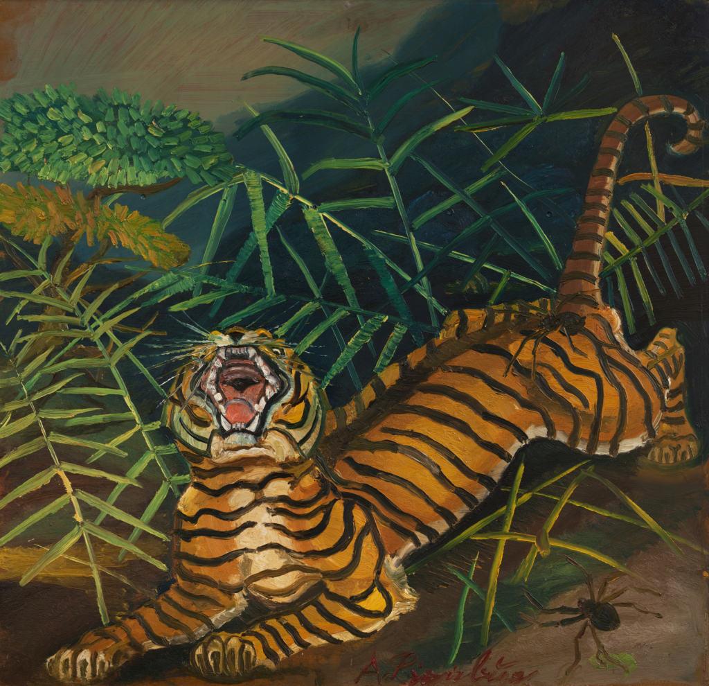 Ligabue - Tigre nella foresta con ragni
