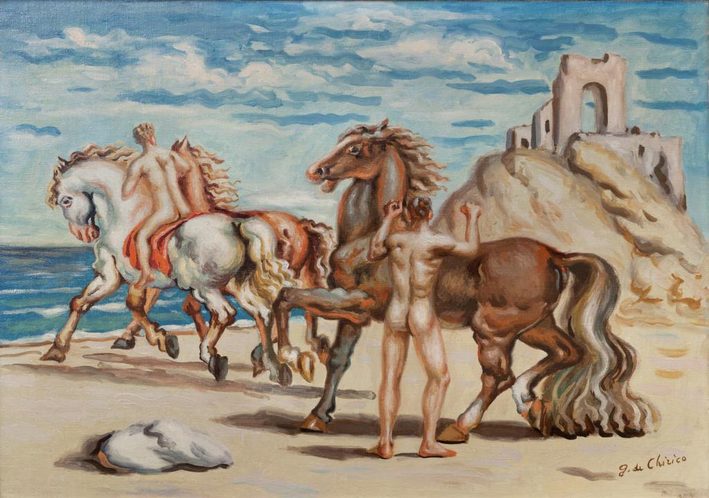 de Chirico - Cavalieri sulla spiaggia